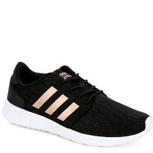 Black rose hold adidas cloud foam sneakers